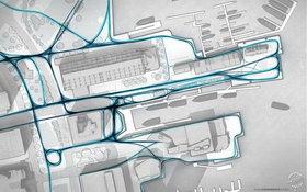 交通|流线|配色|灰色|底图